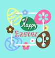colorful easter flat background vector image