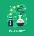 Flat Design Business Make Money vector image