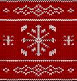 Knit pattern model vector image