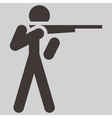 2266 shooting icon vector image vector image