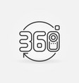 360 camera icon in thin line style vector image