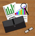analysis of economic growth in business vector image