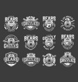 angry bear sport clubs mascot logos vector image vector image