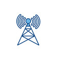 antenna transmission internet line and fill vector image