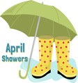 April Showers vector image vector image