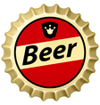 Beer cap vector image vector image