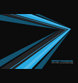 blue speed arrow direction on black vector image vector image