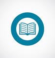 book icon bold blue circle border vector image vector image