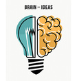 Brain and ideas business concept vector image vector image