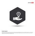 bulb concept creative idea icon hexa white vector image