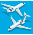 Business aircraft Corporate jet Airplane vector image vector image