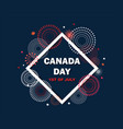 celebrate banner of the national day of canada vector image vector image