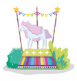 circus with horse animal to show entertainment vector image