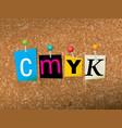 CMYK Concept vector image vector image