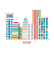 colorful buildings vector image vector image