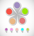 Colorful round pin pointer vector image vector image