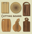 cutting board vector image