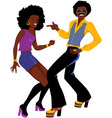 Disco dancers isolated vector image