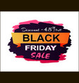 discount 45 black friday sale vector image