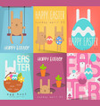 easter posters set vector image vector image