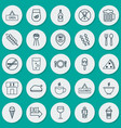 eating icons set collection of closed placard vector image vector image