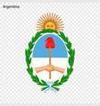 emblem of argentina vector image vector image