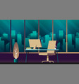 empty ceo office interior flat vector image