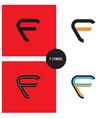 f- company symbol vector image