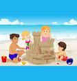 family building sand castle vector image