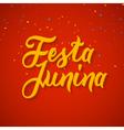 festa junina celebration poster brazilian vector image