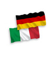 flags of italy and germany on a white background vector image