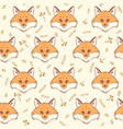 fox seamless vector image vector image