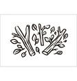 hand drawn branch simple sketch vector image vector image