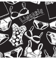 Hand drawn sexy lingerie set vector image vector image