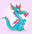 happy cartoon dragon vector image