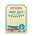 happy fathers day card vintage retro vector image vector image