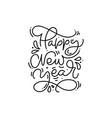 happy new year calligraphic hand written monoline vector image vector image