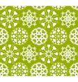 Heart snowflake seamless pattern Christmas vector image vector image
