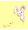 Hiding Easter Bunny card vector image