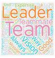 Leadership Teamwork text background wordcloud vector image vector image