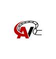 letter av modern logo vector image