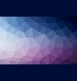 light blue purple low poly crystal background vector image vector image