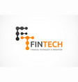 logo innovative concept for fintech industry vector image vector image