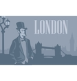 London gentleman in hat on the London Street vector image