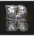 metal figure r vector image vector image