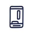 mobile game on phone hand-drawn mobile phone vector image