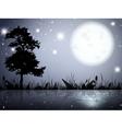 Moon Night Lake vector image vector image