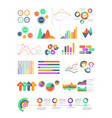 multicolored infographics with different vector image vector image