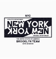 new york city brooklyn typography graphics for vector image