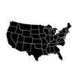 political map of usa vector image